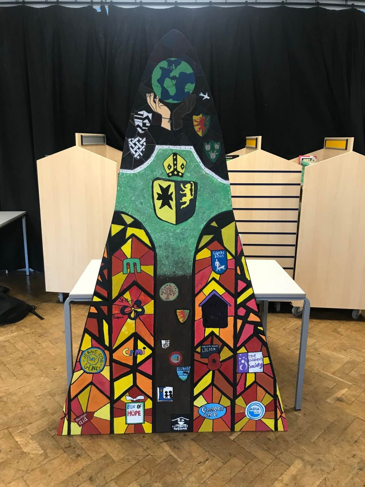 Priory Window 2019 - designed by Members of Mission Group.